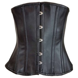 LEATHER LADIES HOOK AND EYE CLOSURE CORSET