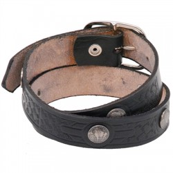 Heavy Cowhide Buffalo Nickel Leather Belt
