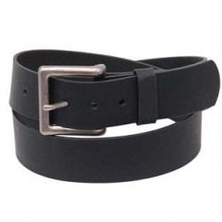 Extra Wide Black Oil Tanned Leather Belt