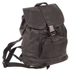 Medium Black Leather Backpack Handbag
