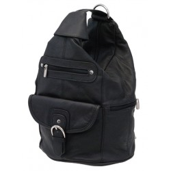 Small Size Round Top Zipper Backpack Purse w Organizer