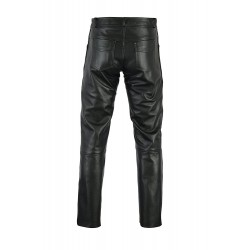 Bikers Gear Rock and Roll Leather Mens Motorcycle Trousers