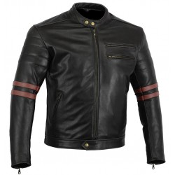 Chaqueta de piel Cafe Racer modelo The Rocker Motorcycle