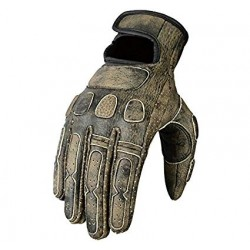 Bikers Gear  Leather Roadster Classic Motorcycle Gloves, Brown,