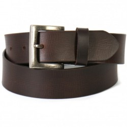 Distressed Brown Genuine Leather Belt