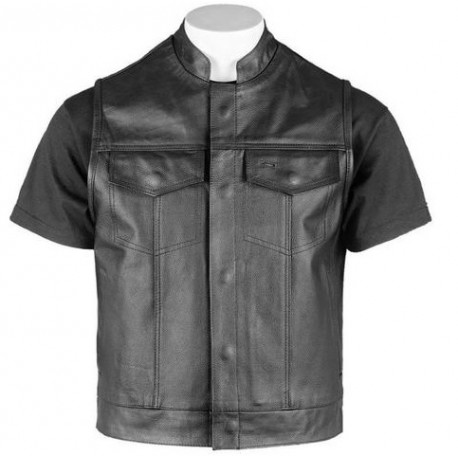 Premium Grade Genuine Biker leather Vest.