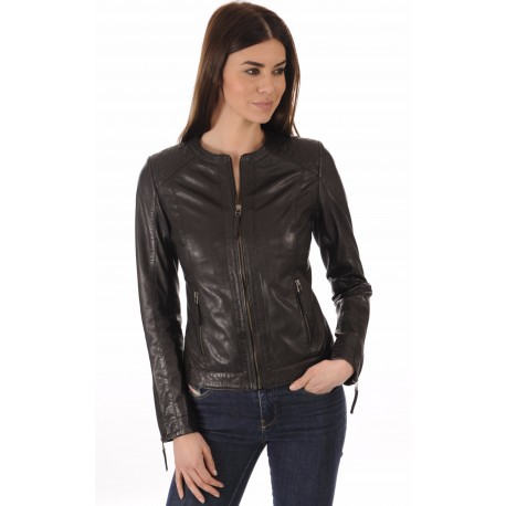 Women's Spencer Leather Jacket