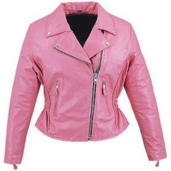 Womens Pink Cruiser Biker Jacket