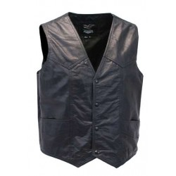 Men Western Ultra Soft Lambskin Leather Vest