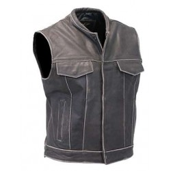Vintage Brown Leather Club Vest