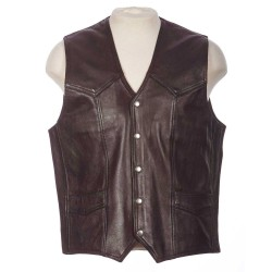 BIG SAINT MOTORCYCLE LEATHER VEST
