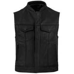 Men's Leather Rebel Vest