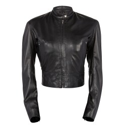 Chaqueta piel mujer Cafe racer