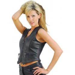 Cute fitted leather vest for women