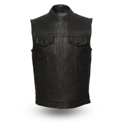 Club style vest with two front snap pockets HOT ROCK