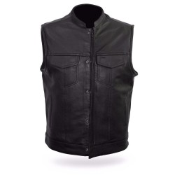 Sharp Saint rock custom leather jacket -chaleco de cuero costum