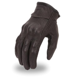Men's unlined glove with padded palm and Velcro wrist closure.