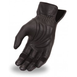 Women's light lined glove with Gel palm made in premium aniline cowhide.
