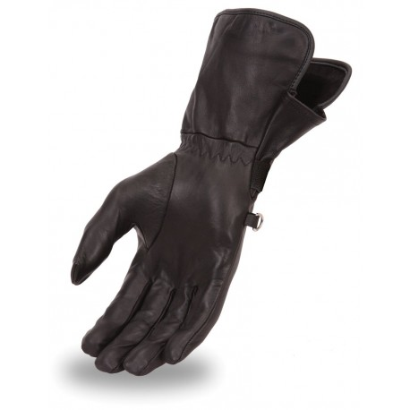 Womens lightweight lined naked skin gauntlet glove with  adjustable wrist strap