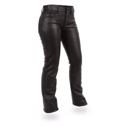 women  5 pocket jean-style leathers