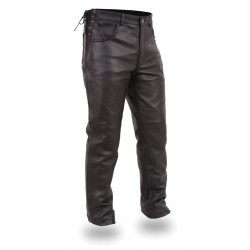 HIXEN  women leather pant
