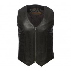 Lara custom leather vest , chaleco de cuero  Women's Vest