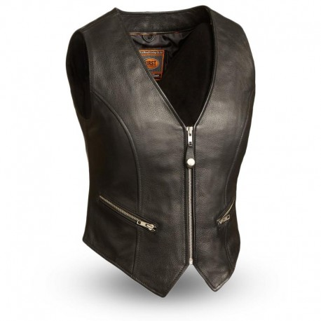montar Leather vest -Soft Milled Cow Leather